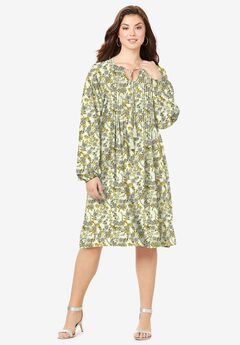 Pintuck Shirtdress,