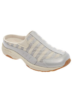 Traveltime Mule by Easy Spirit®, SOFT SILVER STRIPES