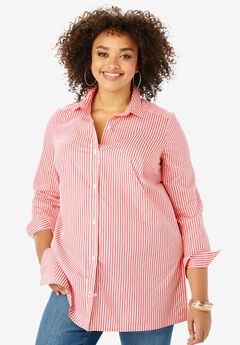 Kate Tunic, CORAL WHITE STRIPE