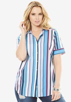 Kate Short-Sleeve Shirt, MULTI STRIPE, hi-res