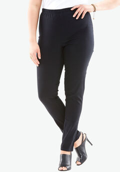Skinny Pull-On Stretch Jegging by Denim 24/7®, BLACK
