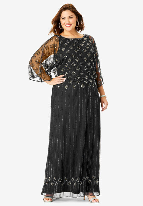 Beaded Sheath Dress| Plus Size Dresses and Pantsuits for ...