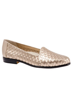 Liz Leather Loafer by Trotters®, PEWTER, hi-res