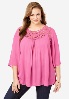 Lace Crochet Tunic,