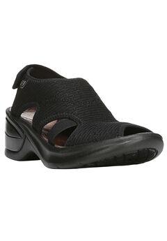 Kiss Sandals by BZees®, BLACK MESH