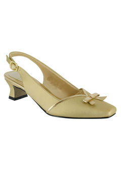 Incredible Slingback Pump by Easy Street®, GOLD, hi-res