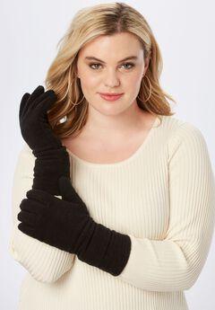 Fleece Gloves, BLACK, hi-res