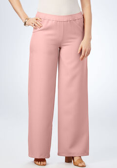 Bend Over Wide Leg Pants, ROSE HAZE, hi-res