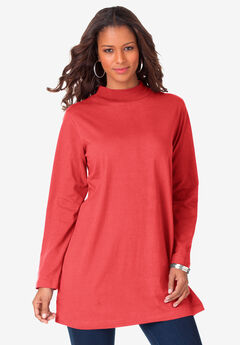 Mockneck Ultimate Tunic, SOFT GERANIUM