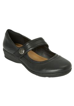 Mary Jane Flats 'Mariah' by Comfortview®, BLACK, hi-res