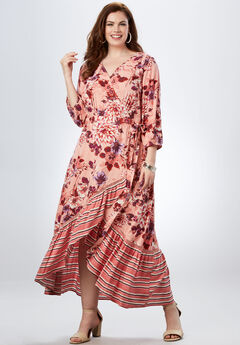 High-Low Wrap Dress,