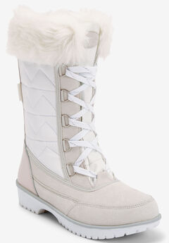The Eileen Waterproof Boot , WHITE