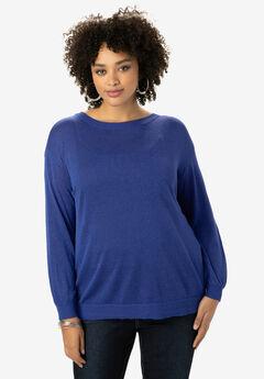Fine Gauge Cross-Back Sweater,
