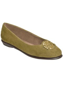 Exhibet Flats by Aerosoles®, MID GREEN SUEDE, hi-res