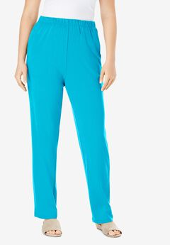 Straight-Leg Soft Knit Pant, OCEAN