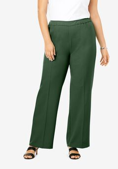 Wide-Leg Bend Over® Pant, MIDNIGHT GREEN