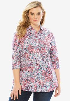 Three-Quarter Sleeve Kate Shirt, LIBERTY FLORAL