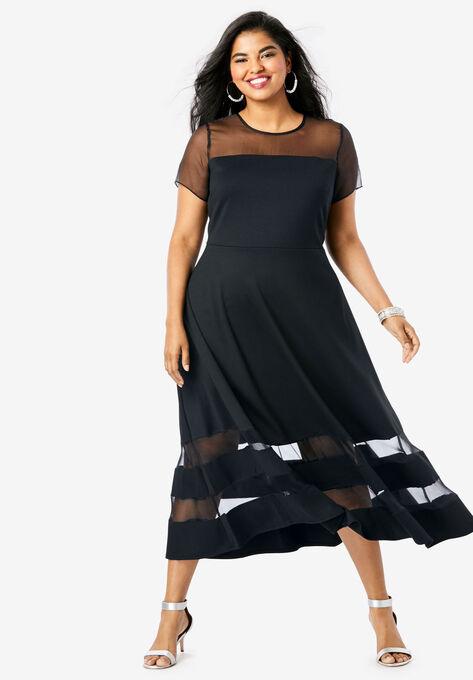 Organza Trim Dress