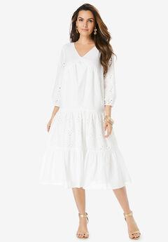 Eyelet Ruffle Dress,