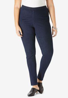 Skinny Pull-On Stretch Jean by Denim 24/7®, INDIGO WASH