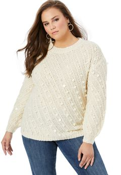 Textured Sequin Sweater,