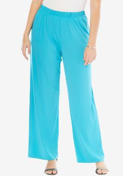Wide Leg Pants , VIBRANT TURQ, hi-res