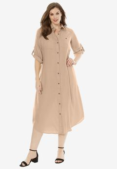 Safari Dress, NEW KHAKI, hi-res