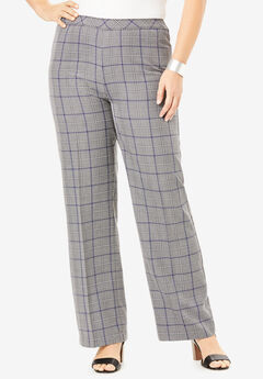 Bend Over® Wide-Leg Pant, GRAY PLAID