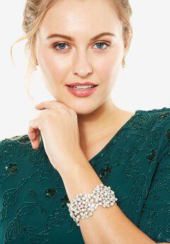 Pearl Studded Bracelet, SILVER, hi-res