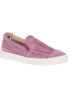 Gabbie Woven Slip-On Sneakers by Hush Puppies®, DUSTY ORCHID SUEDE, hi-res