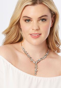 Rhinestone Y-Shape Necklace,