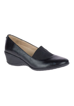 Odell Elastic Pumps by Hush Puppies®, BLACK LEATHER, hi-res