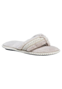 Darlene Thong Slippers by Muk Luks®, CHAMPAGNE, hi-res