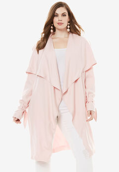 Belted Trench Coat, MISTY ROSE, hi-res