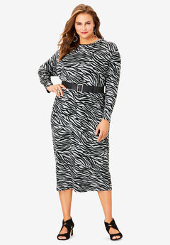 Belted Midi Dress,