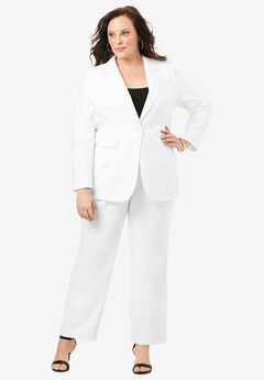 Straight-Leg Pantsuit with Blazer,
