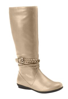 Tate Tall Calf Boots by Comfortview, BONE, hi-res