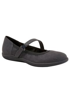 Hollis Flat by SoftWalk®, BLACK NUBUCK, hi-res