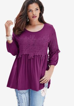Lace Inset Tee,