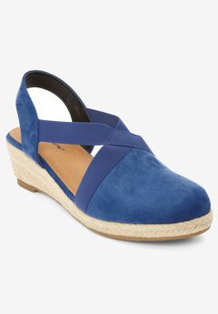 The Elodie Espadrille by Comfortview®, ROYAL NAVY
