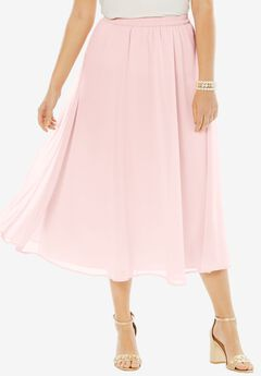 Long Georgette Skirt, PALE BLUSH