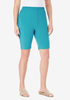 Essential Stretch Bike Short, DEEP TURQUOISE