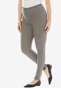 Straight Stretch Legging by Denim 24/7, GREY DENIM, hi-res