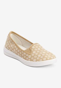 The Dottie Sneaker , KHAKI EYELET