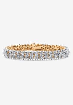 Gold-Plated Diamond Snake Bracelet,