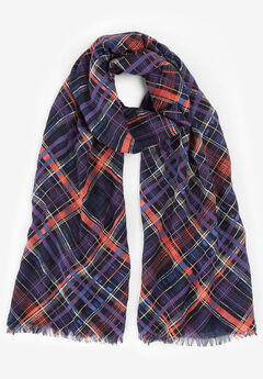 Lightweight Scarf, BIAS PLAID