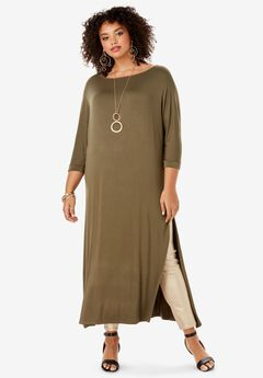 Side-Slit Ultra Tunic with Asymmetric Silhouette,