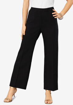 Wide-Leg Bend Over® Pant, BLACK