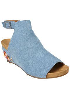 Kendal Sandals by Comfortview®, DENIM, hi-res