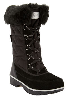 The Eileen Waterproof Boot , BLACK SILVER MULTI
